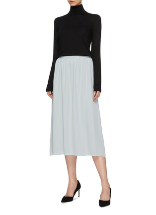 Figure View - Click To Enlarge - Theory - Silk georgette skirt