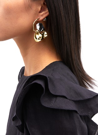 Figure View - Click To Enlarge - ELLERY - 'Chess Warped Collage' sculptural drop earrings