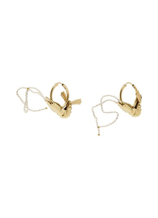 Main View - Click To Enlarge - ELLERY - 'Decipher Shrimp' faux pearl hoop earrings