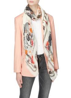 Alexander McQueen Neptune Treasure modal-wool scarf