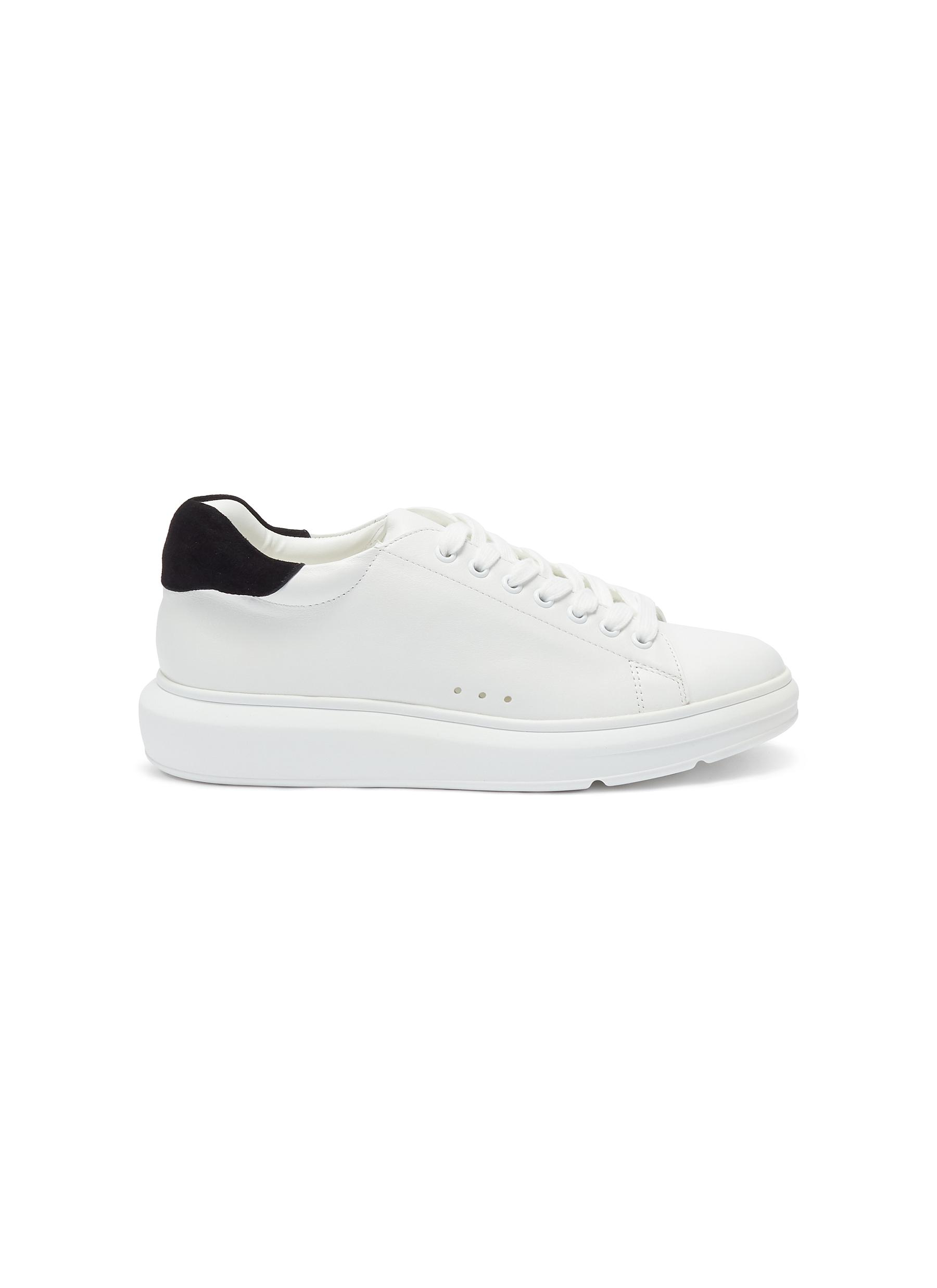 Margot chunky outsole leather sneakers by Pedder Red