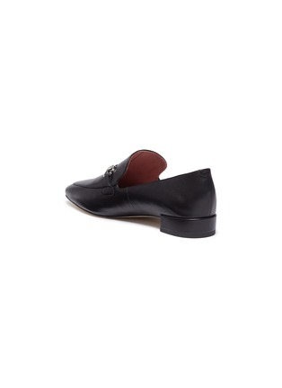 Detail View - Click To Enlarge - PEDDER RED - 'Zack' horsebit leather loafers