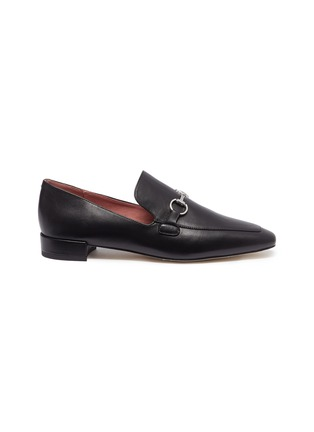 Main View - Click To Enlarge - PEDDER RED - 'Zack' horsebit leather loafers