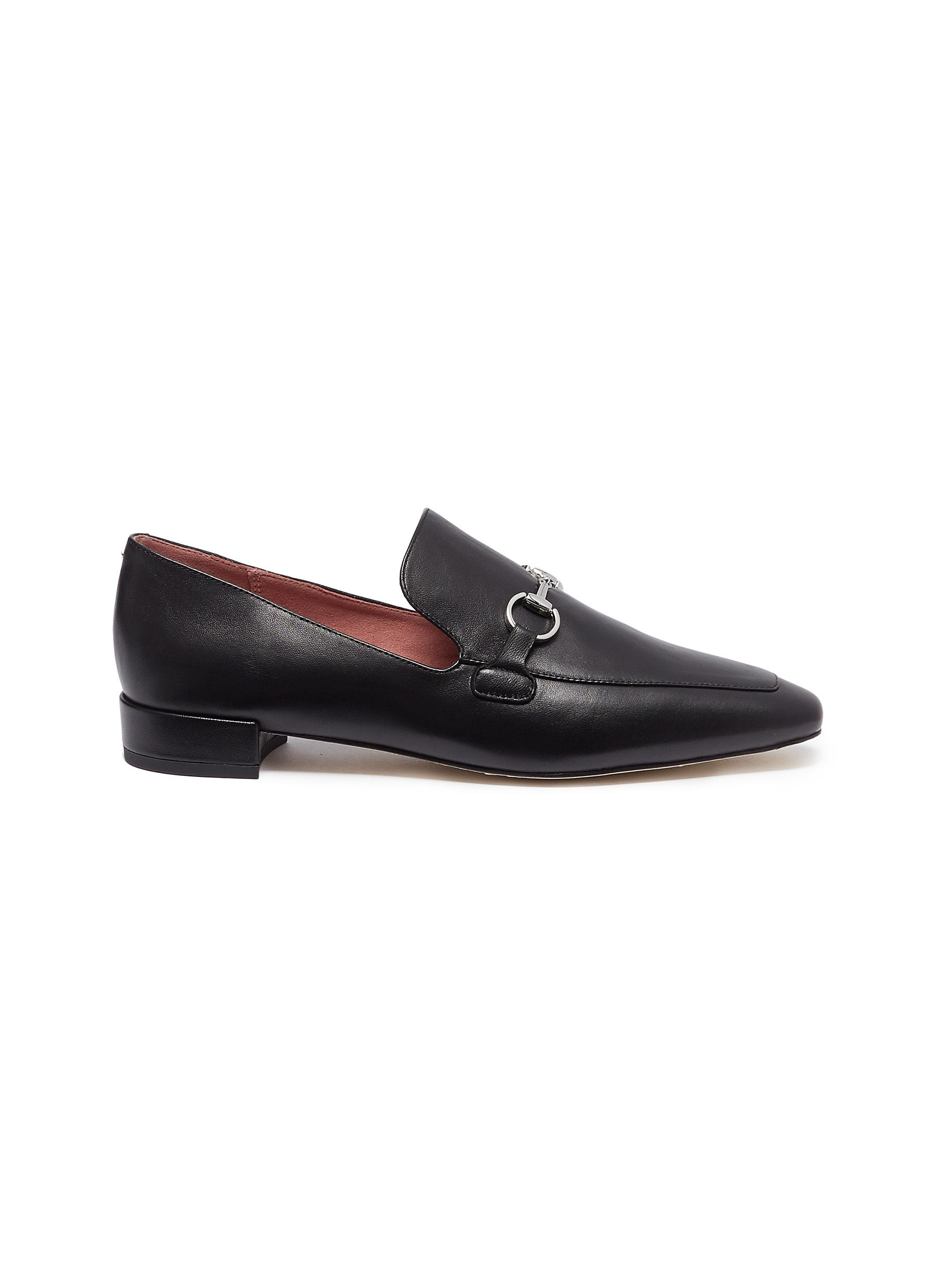 Zack horsebit leather loafers by Pedder Red