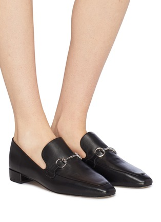 Figure View - Click To Enlarge - PEDDER RED - 'Zack' horsebit leather loafers