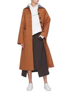 FFIXXED STUDIOS Belted houndstooth collar coat