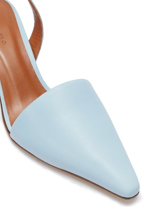 Detail View - Click To Enlarge - REJINA PYO - 'Conie' sculptural heel leather slingback pumps