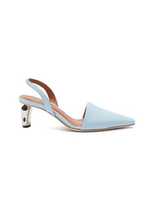 Main View - Click To Enlarge - REJINA PYO - 'Conie' sculptural heel leather slingback pumps