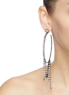 Joomi Lim Swarovski crystal fringe hoop earrings