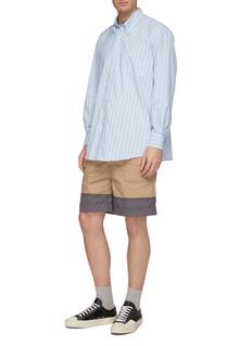 Marni Roll cuff colourblock patchwork shorts