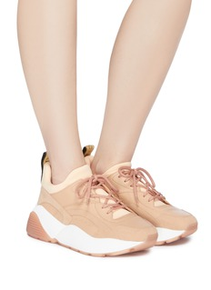 Stella McCartney 'Eclypse' chunky outsole faux suede and leather sneakers