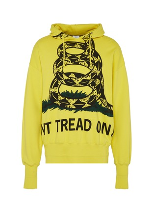 Main View - Click To Enlarge - Vetements - 'Snake' slogan graphic print oversized unisex hoodie
