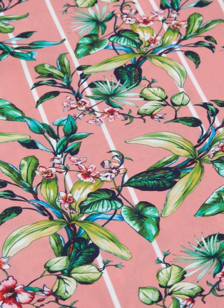- VETEMENTS - Floral stripe print turtleneck dress