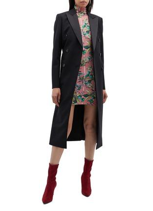 Figure View - Click To Enlarge - Vetements - Floral stripe print turtleneck dress