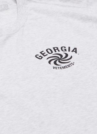 - VETEMENTS - 'Georgia' slogan graphic print T-shirt