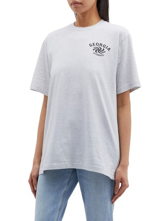 Front View - Click To Enlarge - Vetements - 'Georgia' slogan graphic print T-shirt