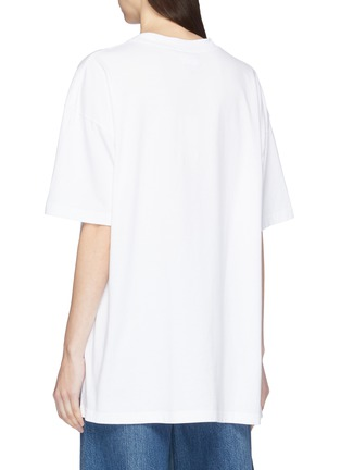 Back View - Click To Enlarge - VETEMENTS - Slogan print T-shirt