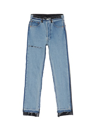 Main View - Click To Enlarge - Vetements - x Levi Strauss & Co. ripped colourblock patchwork jeans