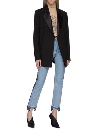 Figure View - Click To Enlarge - Vetements - x Levi Strauss & Co. ripped colourblock patchwork jeans