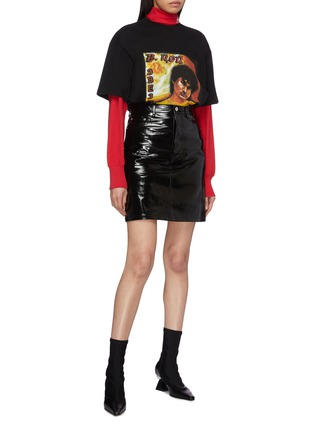 Figure View - Click To Enlarge - VETEMENTS - 'Idol' graphic print oversized unisex T-shirt