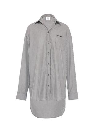 Main View - Click To Enlarge - VETEMENTS - Drape back stripe unisex shirt