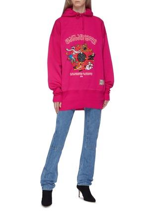 Figure View - Click To Enlarge - Vetements - 'Cartoon' slogan graphic print oversized unisex hoodie