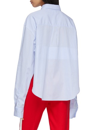 Back View - Click To Enlarge - VETEMENTS - Folded stripe shirt