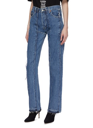 Front View - Click To Enlarge - Vetements - x Levi Strauss & Co. panelled patchwork jeans
