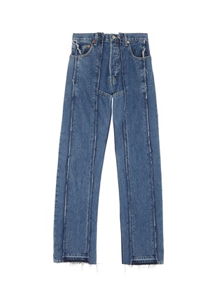 Main View - Click To Enlarge - Vetements - x Levi Strauss & Co. panelled patchwork jeans