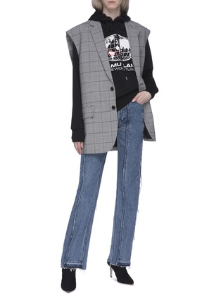Figure View - Click To Enlarge - VETEMENTS - x Levi Strauss & Co. panelled patchwork jeans