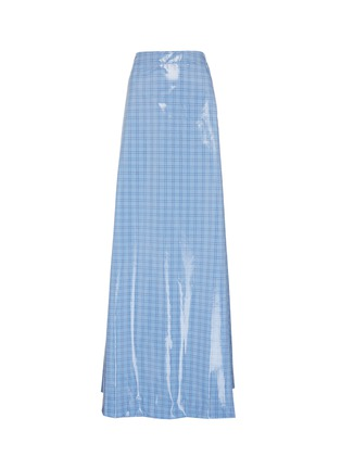 Main View - Click To Enlarge - VETEMENTS - Check plaid coated maxi skirt