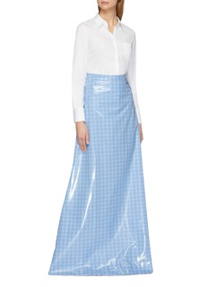 Vetements Check plaid coated maxi skirt