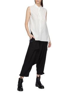 Yohji Yamamoto Fringe knot sleeveless shirt