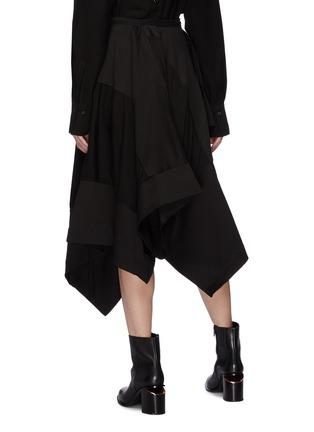 Back View - Click To Enlarge - Yohji Yamamoto - Patchwork drape wrap skirt