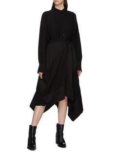 Yohji Yamamoto Patchwork drape wrap skirt