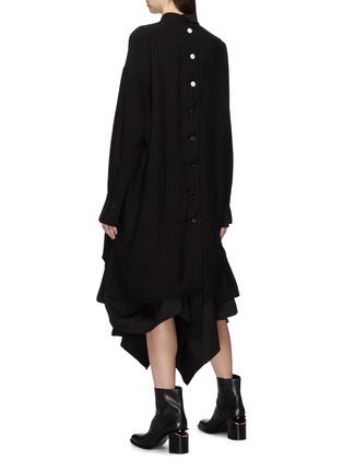 Back View - Click To Enlarge - Yohji Yamamoto - Button back oversized shirt