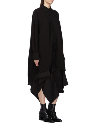 Front View - Click To Enlarge - Yohji Yamamoto - Button back oversized shirt