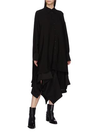 Figure View - Click To Enlarge - Yohji Yamamoto - Button back oversized shirt