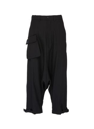 Main View - Click To Enlarge - Yohji Yamamoto - Detachable flap pocket drop crotch pants