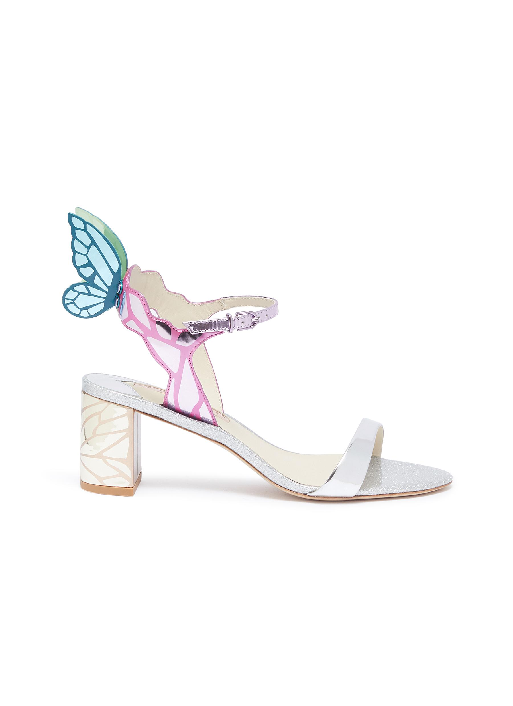 6464568cde SOPHIA WEBSTER | 'Chiara' butterfly wing mirror leather sandals ...
