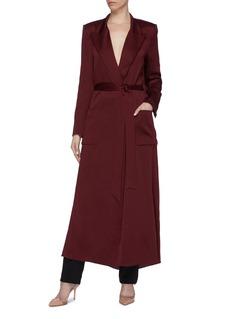 Roland Mouret 'Heathcoat' belted cutout drape back coat