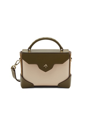 Main View - Click To Enlarge - MANU Atelier - 'Bold Combo' micro colourblock suede panel leather crossbody bag