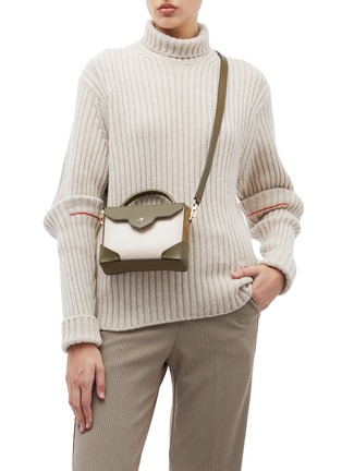 Figure View - Click To Enlarge - MANU Atelier - 'Bold Combo' micro colourblock suede panel leather crossbody bag
