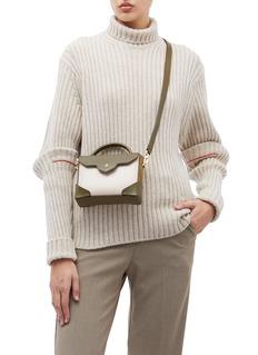 MANU Atelier ''Bold Combo' micro colourblock suede panel leather crossbody bag