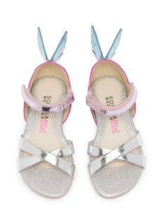 Sophia Webster 'Chiara' butterfly appliqué metallic leather toddler sandals
