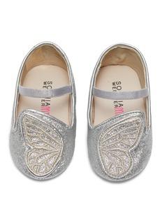 Sophia Webster 'Bibi Butterfly Baby' appliqué glitter infant Mary Jane flats