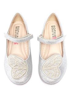 Sophia Webster 'Bibi Butterfly Mini' appliqué glitter toddler Mary Jane flats