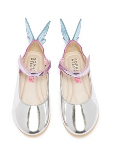 Sophia Webster 'Chiara' butterfly appliqué metallic leather toddler Mary Jane flats