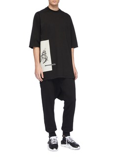 Rick Owens DRKSHDW Graphic patch oversized T-shirt