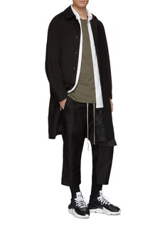 Rick Owens DRKSHDW Layered cropped drop crotch jogging pants